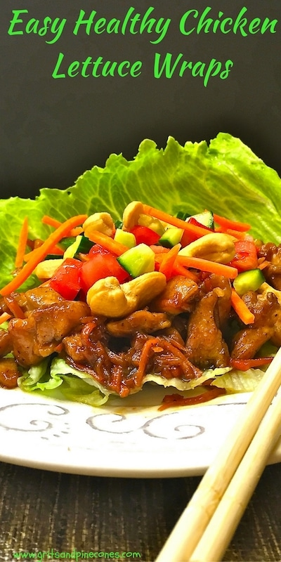 Easy Healthy Chicken Lettuce Wraps are low-carb and perfect for a quick lunch or dinner.  These flavorful wraps are only 232 calories and take minutes to make.