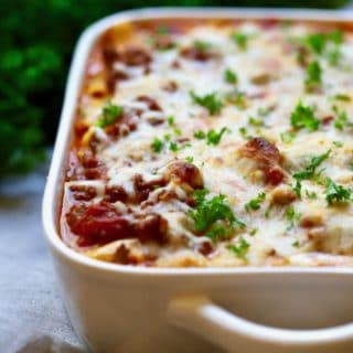 Easy Make-Ahead Baked Ziti