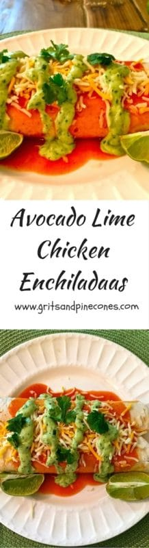 Avocado Lime Chicken Enchiladas-1