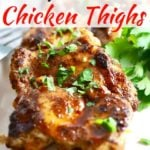 Broiled Chili Rubbed Chicken Thighs Pinterest Pin A