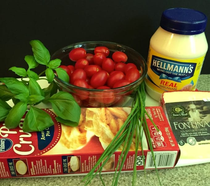 Southern Style Cherry Tomato Pie Ingredients