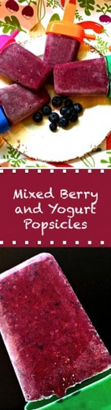 Mixed Berry and Yogurt Popsicle