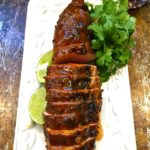Chili Rubbed Pork Tenderloin with Apricot Glaze