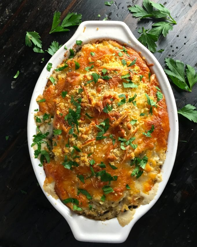 Chicken, Sausage, and Wild Rice Casserole