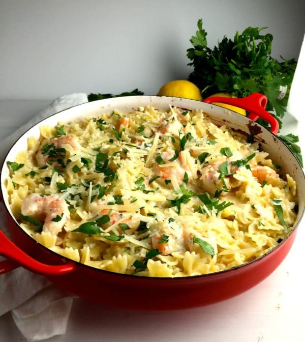 Delicious Shrimp and Blue Cheese Pasta