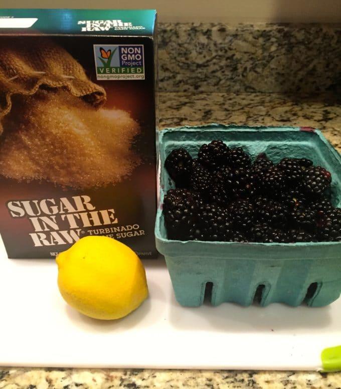 Easy Microwave Blackberry Jam ingredients