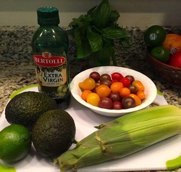Corn, Tomato, Avocado Salad