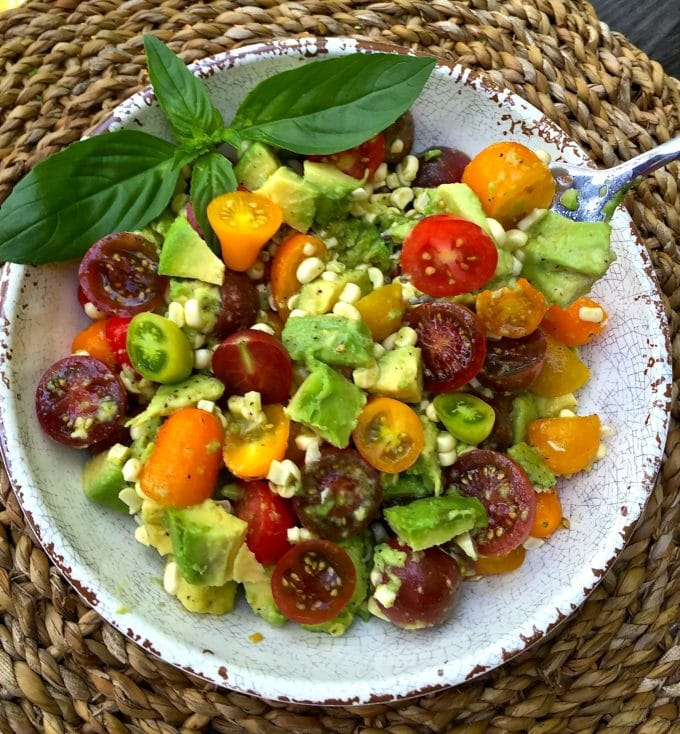 A 4th of July Food Idea - Corn Tomato and Avocado Salad