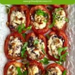 Pinterest pin for roasted tomatoes.