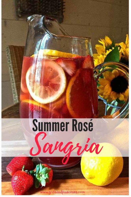 Summer Rose Sangria Pinterest pin B