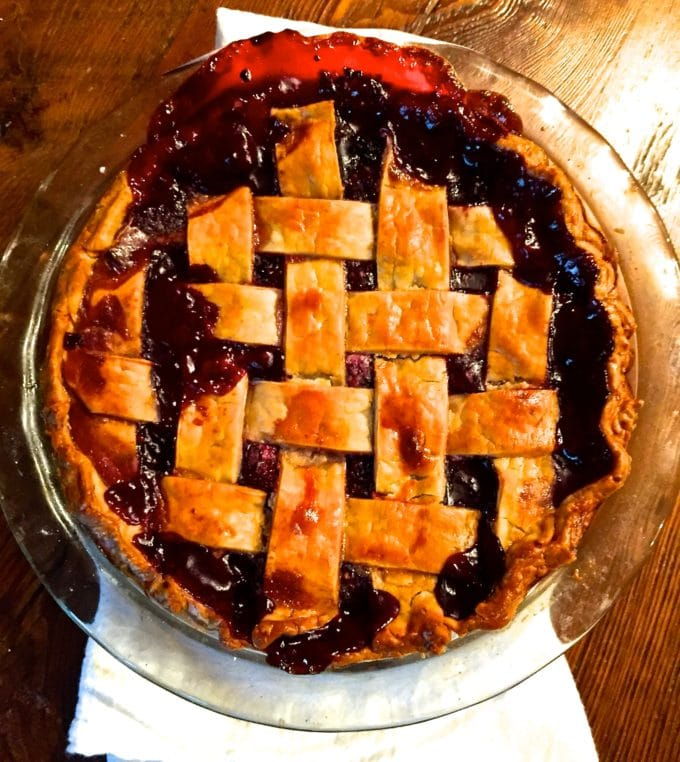 Classic Southern Style Blackberry Pie ready to eat!