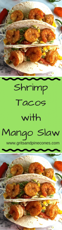 Sautéed sweet, briny, fresh wild caught shrimp with a spicy, healthy slaw with mango, tomato, and avocado, well it just doesn't get much more delicious than this!