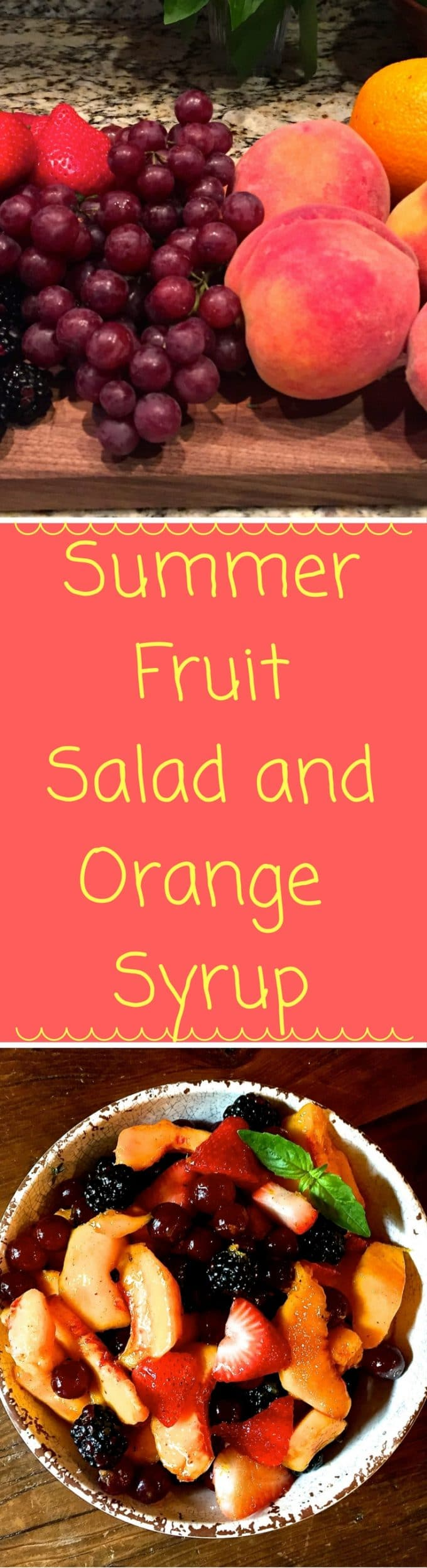 Summer Fruit Salad with Orange Syrup is fresh fruit with yummy orange syrup. It's perfect for breakfast, or anytime you crave something healthy, and refreshing!