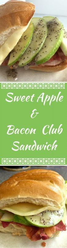 Sweet Apple and Bacon Club Sandwich