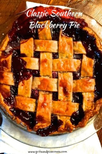Classic Southern Style Blackberry Pie