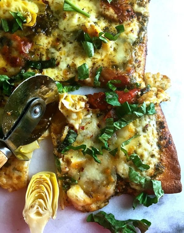 Tomato and Artichoke Pizza