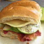 Ultimate Chicken Club Sandwich with Vidalia Onion Poppyseed Dressing.