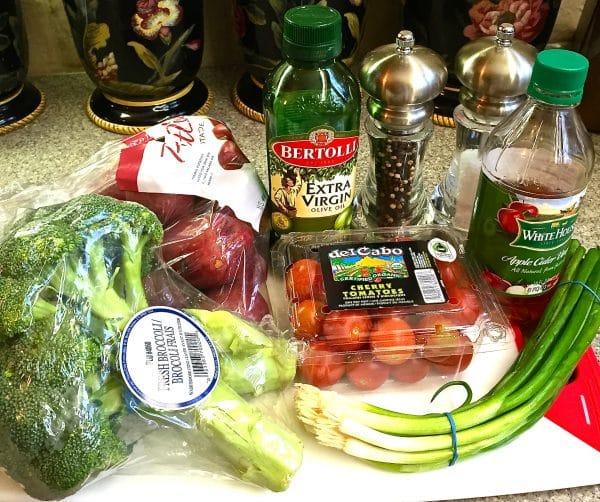 Potato Broccoli Salad with Vinaigrette Ingredients