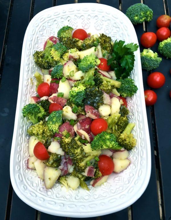 Potato Broccoli Potato Salad with Vinaigrette