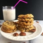Easy Butter Pecan Cookies on a white plate