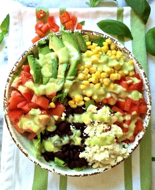 Mexican Chopped Salad with Honey Lime Dressing
