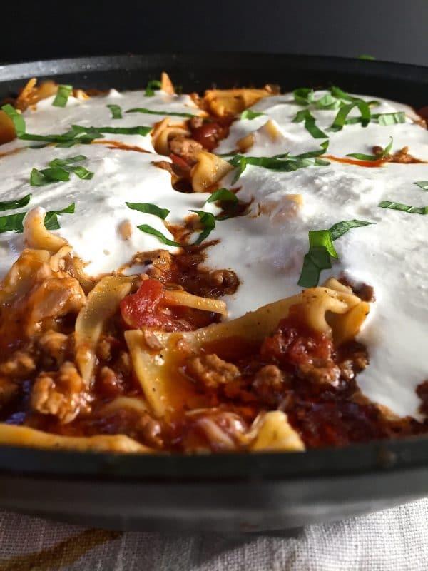 Healthy Skillet Lasagna