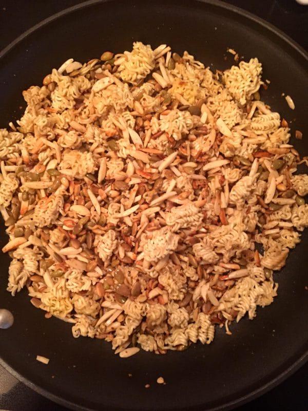 Easy Broccoli Slaw with Ramen Noodles Mixture