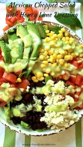 Mexican Chopped Salad with Honey Lime Dressing-10