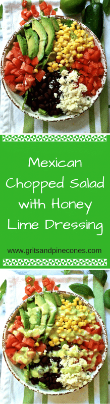 This salad is full of all things healthy and good for you, and the honey-lime dressing is sweet, spicy and simply amazing!