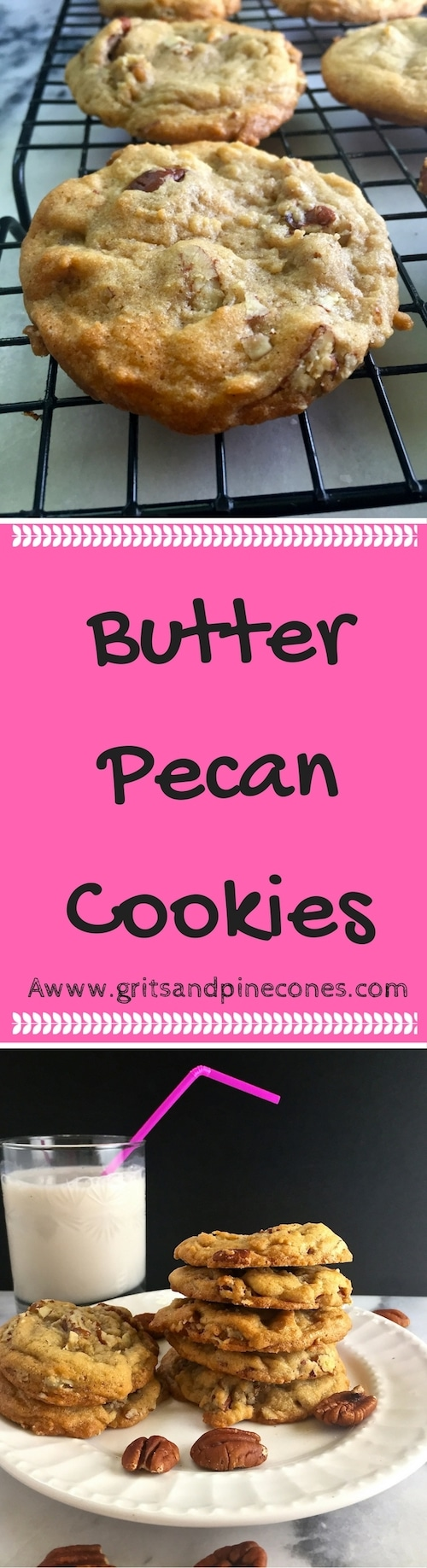 Are you looking for a great easy no-fail recipe for delicious cookies? Then try these delicious Butter Pecan Cookies which are filled with crunchy toasted pecans.