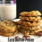 Easy Butter Pecan Cookies Pinterest pin B