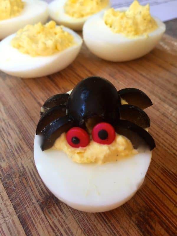 Halloween Spooky Spider Deviled Eggs 6
