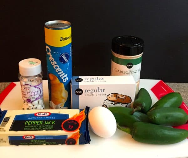 Easy Halloween Jalapeño Mummies Ingredients