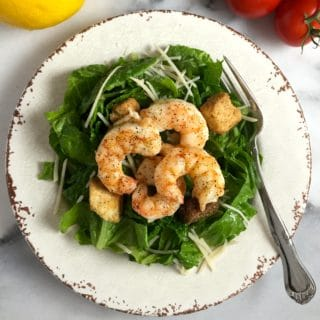 Caesar Salad with Roasted Shrimp