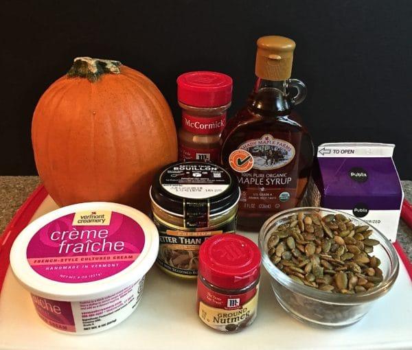 Fall Feast Roasted Pumpkin Soup Ingredients