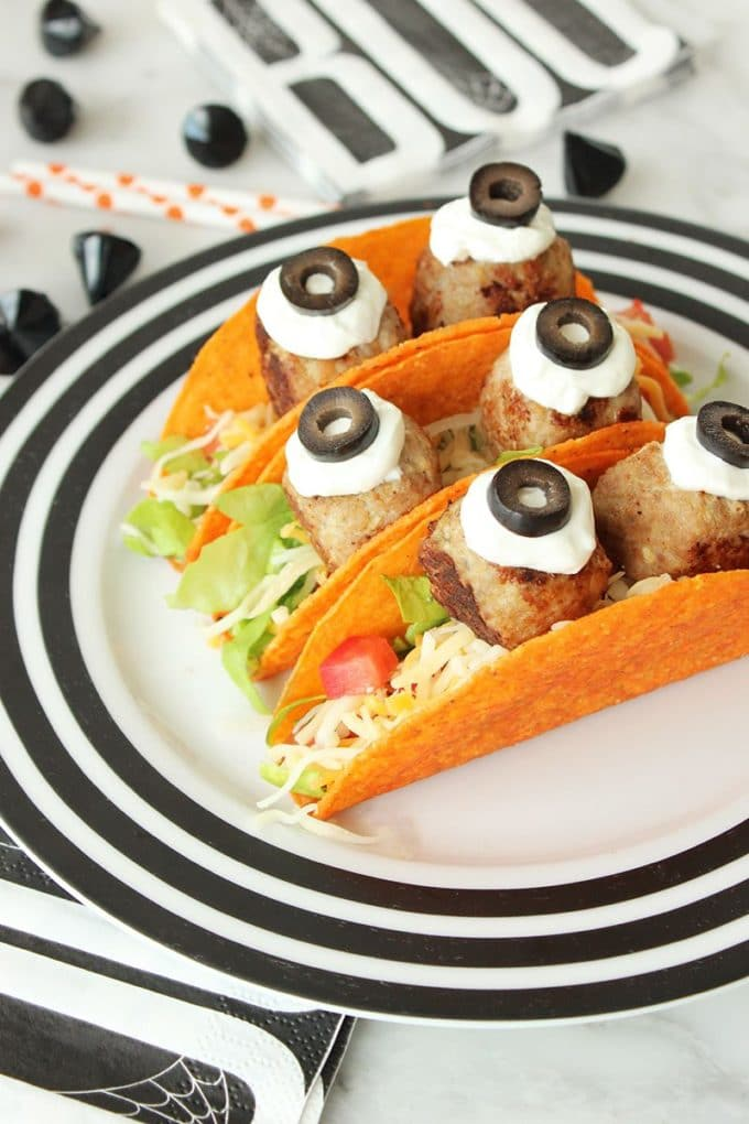 Scary Nacho Monster Tacos for Halloween