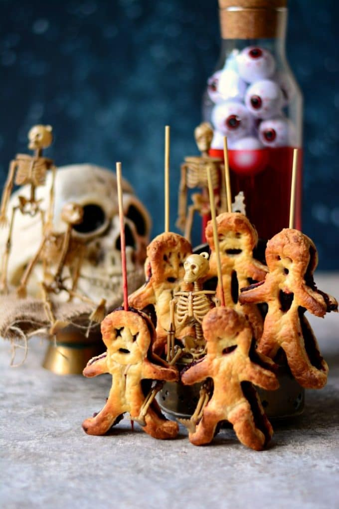Vegan Pastry Voodoo Dolls for Halloween