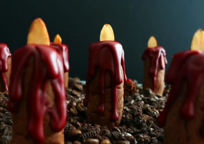 Bleeding Candle Cookies for Halloween