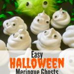 Easy Halloween Meringue Ghosts Pinterest pin C