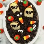 Halloween Graveyard Chocolate Cheesecake Dip a Halloween treat