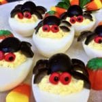 Healthy Halloween Spooky Spider Deviled Eggs