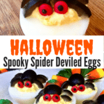 Halloween Spooky Spider Deviled Eggs Pinterest Pin C