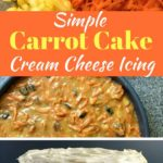 Easy Carrot Cake with Cream Cheese Icing Pinterest Pin