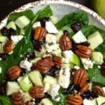 Healthy Spinach Apple and Cranberry Salad with Homemade Poppyseed Dressing