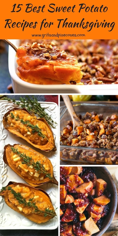 15 Best Sweet Potato Recipes for Thanksgiving includes the classics and delicious and flavorful paleo, vegan, gluten-free, make-ahead and quick and easy options.