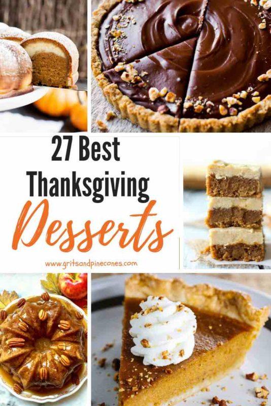27 Best Thanksgiving Desserts Pinterest Pin