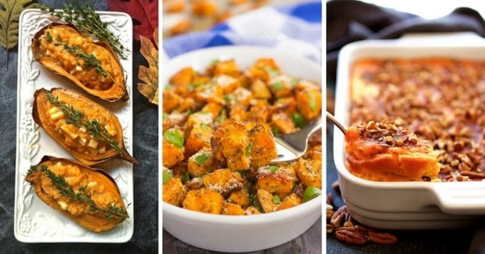 Three of 27 Spectacular Sweet Potato Recipes for Thanksgiving