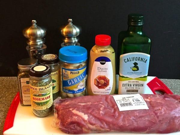 Herb Crusted Roasted Pork Tenderloin Ingredients
