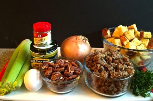 Make Ahead Sausage Cornbread Dressing Ingredients