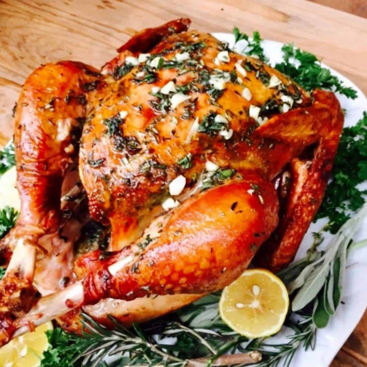 Fresh Herb and Garlic Smoked Turkey